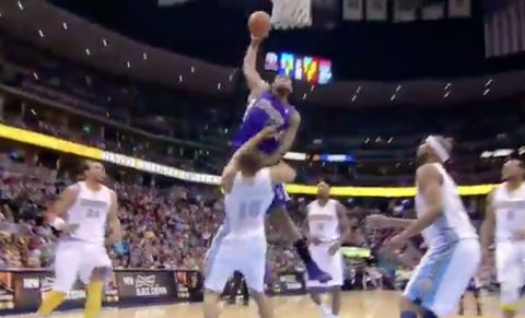 DeMarcus Cousins Puts Anthony Randolph on a Poster
