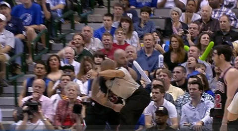Carlos Boozer celebrates the layup and-one with a right hook to…