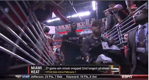 Chicago Fan Tries to Grab LeBron James' Headband; LeBron Gets P…