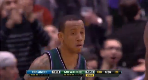Watch Monta Ellis Rack Up 25 Points in One Quarter