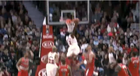 Watch The Amazing Dunk Nate Robinson Put on the Portland Trail …