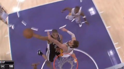 Tim Duncan Throws Down 2 Nasty Poster Dunks On The Lakers