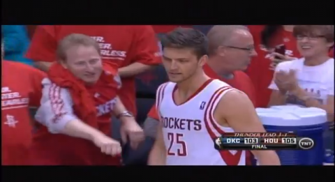 chandler parsons fist bump
