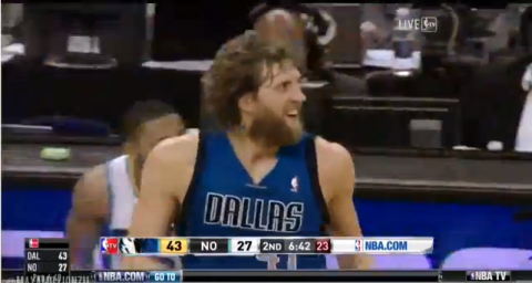 Dirk Nowitzki Scores 25,000th Point