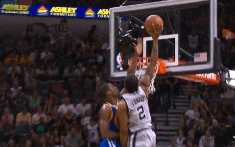 Kawhi Leonard's Sick Statue Of Liberty Dunk On Harrison Barnes'…