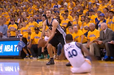 Manu Ginobili Breaks Harrison Barnes' Ankles With A Behind-The-…