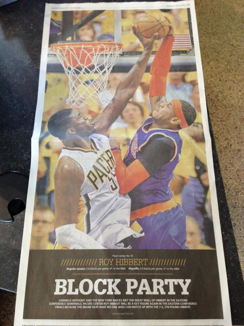 Indiana Newspaper Creates Massive Poster Of Roy Hibbert's Block…