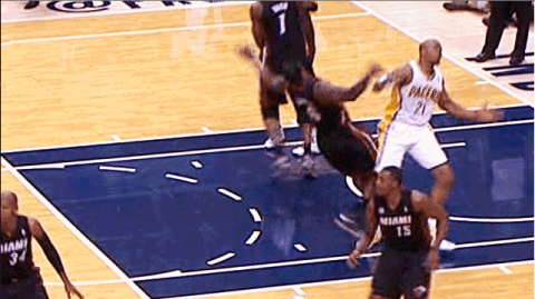 Behold The LeBron James vs. David West Epic Double Flop