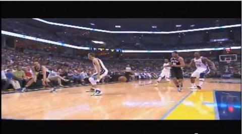 Manu Ginobili Drops a Sick Touch Pass Through Tayshaun Prince's…