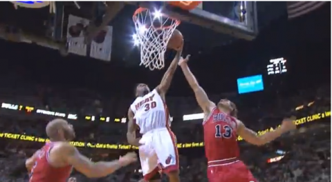 Norris Cole Gets up and Slams on Joakim Noah