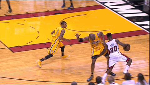 Norris Cole's Brutal Low Blow on David West (GIF)