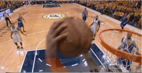 roy hibbert block carmelo anthony