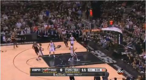 Mario Chalmers hits LeBron James with a Fast Break Touch Pass A…