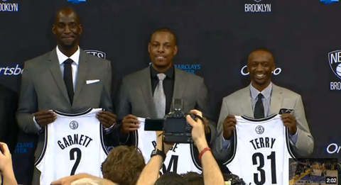 Watch Kevin Garnett, Paul Pierce & Jason Terry As They're F…