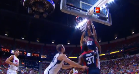 Watch John Wall's Crazy Put-Back Slam During The Team USA Scrim…