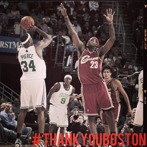 "The Top 10 Paul Pierce ""Thank You Boston"" Instagram Pics That A…"