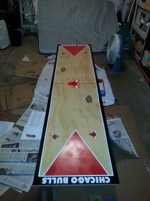 Bulls Fan Creates A United Center Replica Beer Pong Table