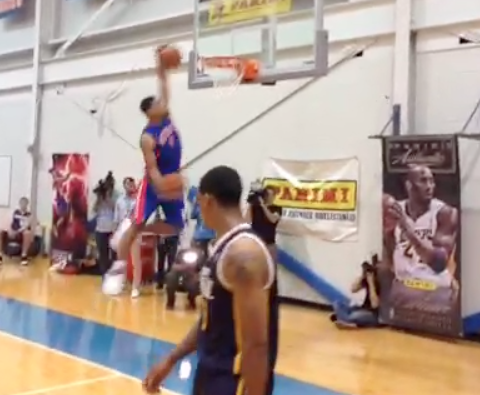 Detroit's Tony Mitchell Puts On Insane Dunking Show At Rookie P…