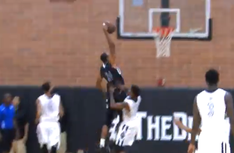 Nick Young Dunked On By Dijon Thompson at Drew League