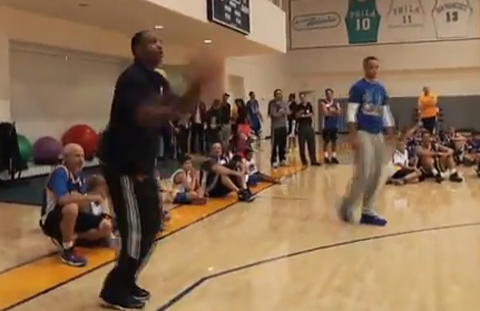 Watch Dell Curry Defeat Son Stephen Curry At Game Of P-I-G