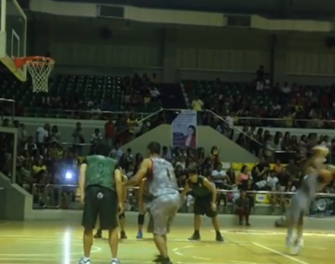 Filipino Actor & Dancer Backflips Before Making A Free Throw