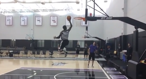 Watch Ben McLemore's Slo-Mo Dunk Show After Practice