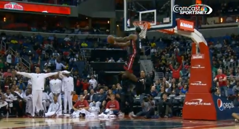 Watch LeBron James Fly For Back-To-Back Slams