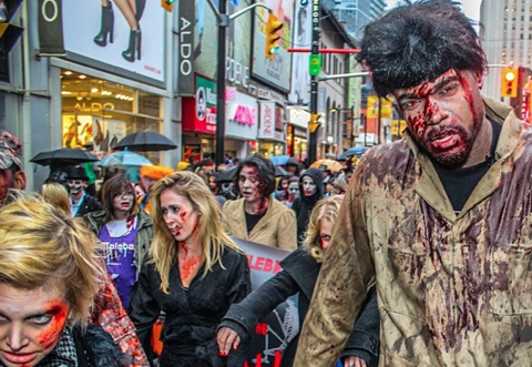 "Behind-The-Scenes Of Raptor Amir Johnson's ""Thriller"" Zombie Da…"