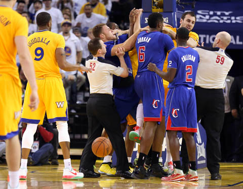 "Blake Griffin Calls The Warriors ""Cowardly"" Following Ejection"