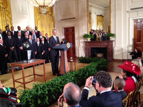 Heat Visit The White House, President Obama Tells Them To Lay O…