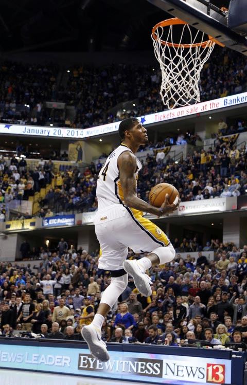 Animated GIF: Paul George's 360-Degree Windmill