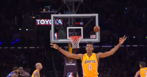 Nick Young Mistakenly Celebrates Missed 3-Pointer
