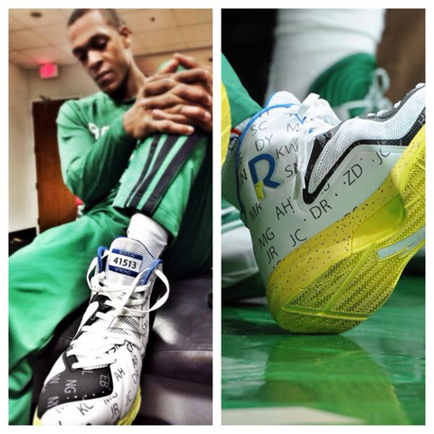 Rajon Rondo Honors Marathon Bombing Victims With Special Sneake…