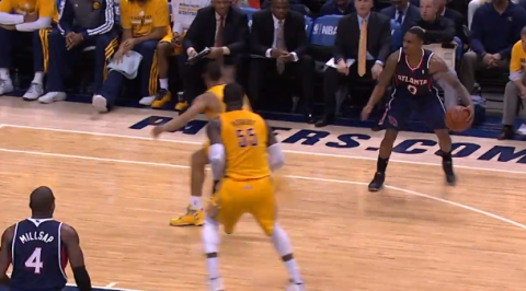 GIF: Jeff Teague Crossover Burns Evan Turner Badly