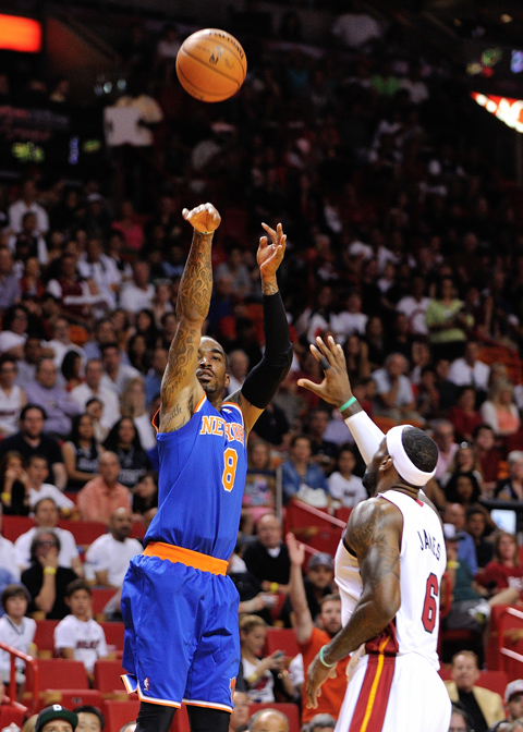 J.R. Smith Sets NBA & Knicks Record By Going 10-For-22 From…