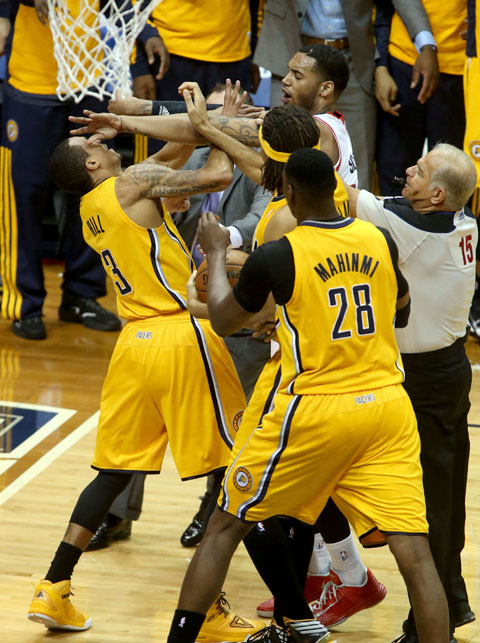 Paul George May Have Left Bench During Mike Scott-George Hill S…
