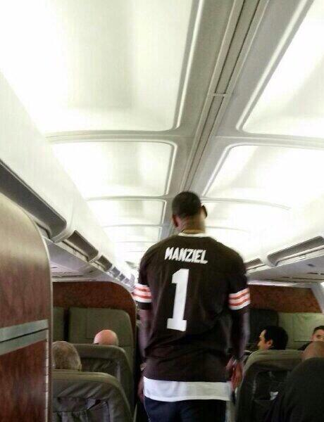 LeBron James Wears Johnny Manziel Jersey After NFL Draft