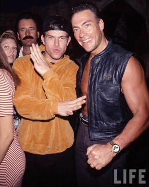 Marky Mark slaps people with his Boogie Nights penis