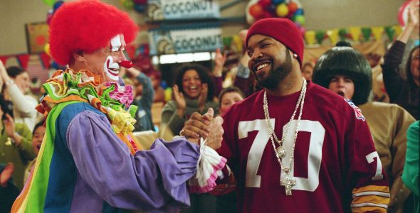 Ice Cube and clown high five