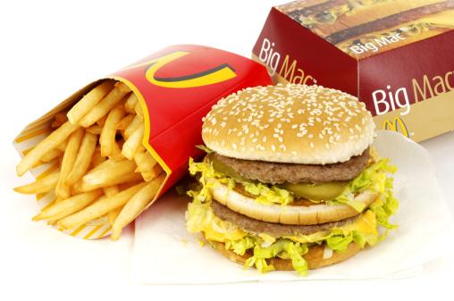 Mcdonalds Big Mac meal