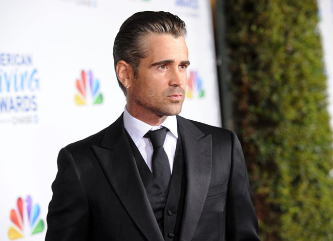 colin-farrell colin farrell American Giving Awards Presented By Chase - Red Carpet LOS ANGELES, CA - DECEMBER 09:  Actor Colin Farrell arrives at the American Giving Awards presented by Chase held at the Dorothy Chandler Pavilion on December 9, 2011 in Los Angeles, California.  (Photo by Jason Merritt/Getty Images for American Giving Awards)