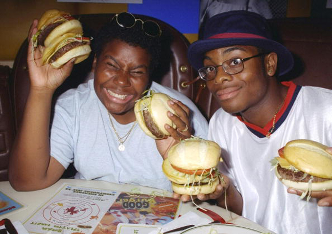 Kenan Thompson (left) and Kel Mitchell seem to have burgers