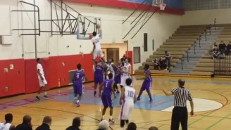 This High School Kid Got His Head Way Above The Rim For An Absolutely Crazy Dunk