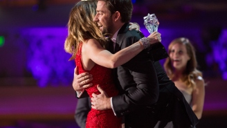 John Krasinski Interrupted Emily Blunt With A Hug During Her Critics' Choice Acceptance Speech