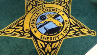 Whoops! Florida's Pinellas County Sheriff's Office Rugs Proclaim 'In Dog We Trust'.