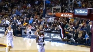 GIF: Steve Blake Finds Will Barton From Halfcourt For Huge Alley-Oop