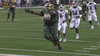 Baylor's 390-Pound Lineman Scored The Fattest, Fat Guy Touchdown Ever