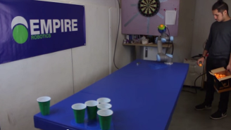 Robot Beer Pong Is One Way Smart Drunk People Are Still Better Than You