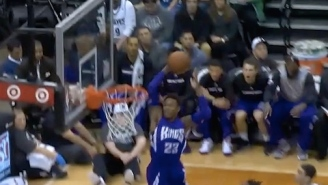 GIF: Ben McLemore Soars For Towering Alley-Oop