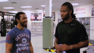 Arizona WR Larry Fitzgerald's Helping A UFC Fighter Train For His Next Fight